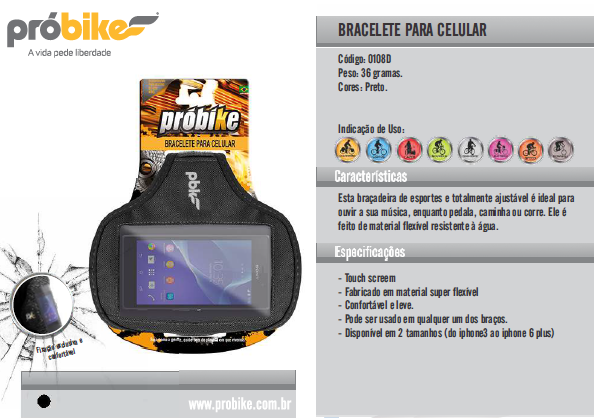 Bracelete para Celular Probike