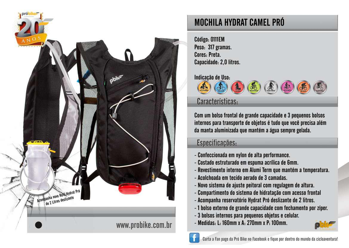 Mochila Hidrat Camel Pro Próbike