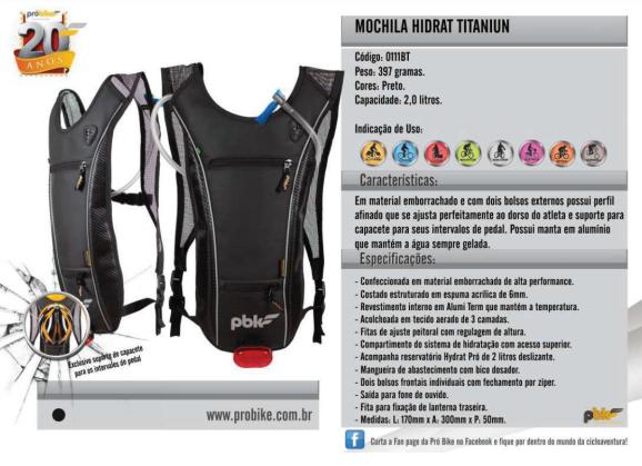 Mochilla Titanium 2,5 litros Probike