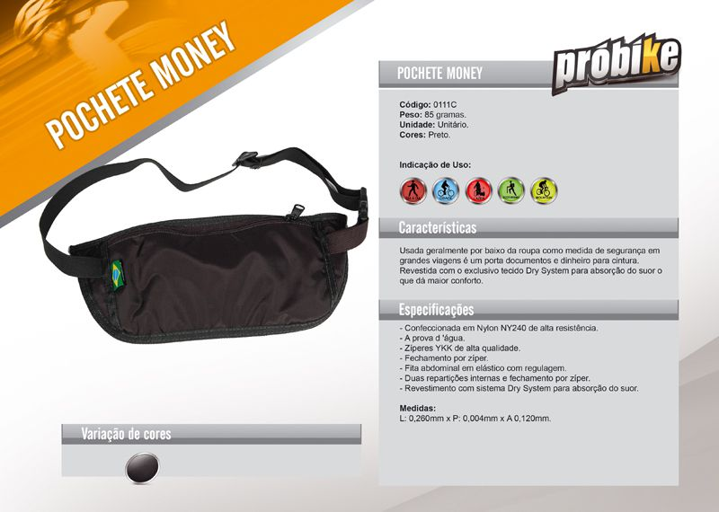 Pochete Money Probike