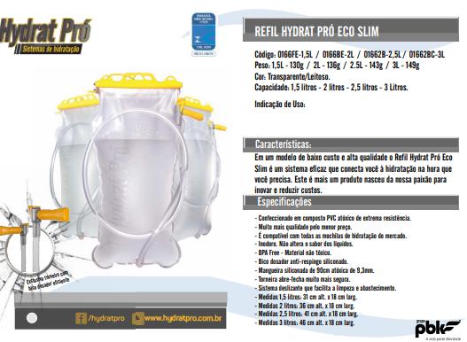 Refil Eco Pró 1,5 litro HydratPro