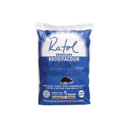Raticida Bloco Parafinado - 1 KG (Ratol)