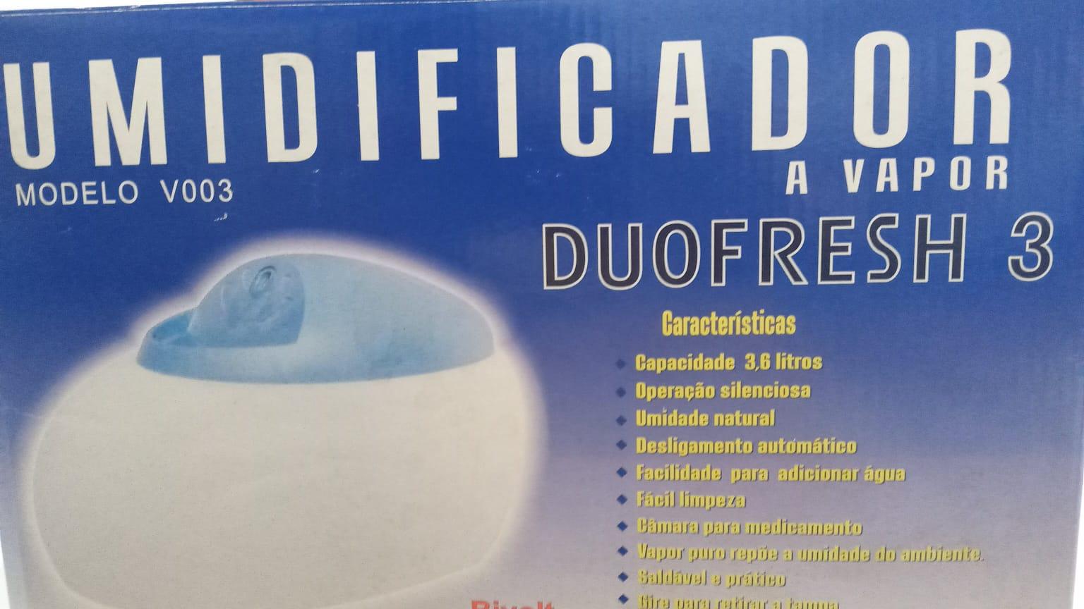 Umidificador a Vapor Duofresh 3 (bivolt)