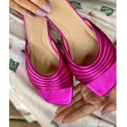 Rasteira Metalizada Pink
