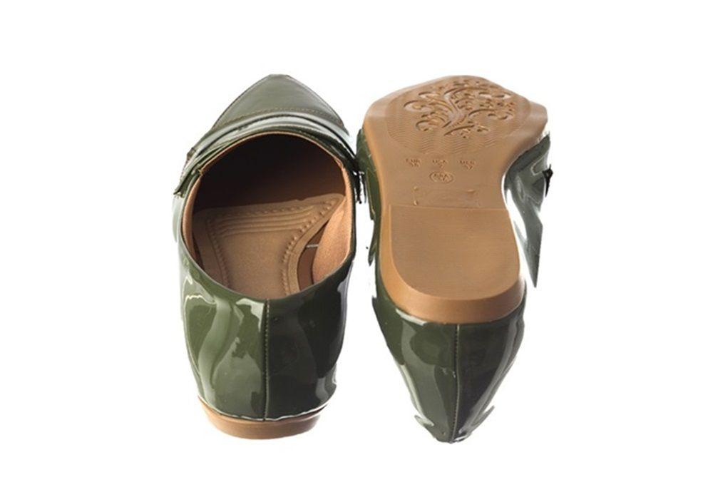 Mocassim Verniz Verde Militar