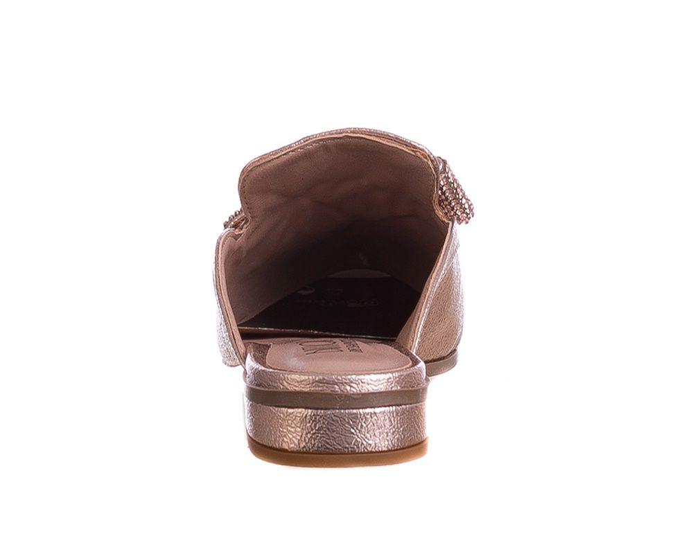Mule Luxo Laço Bronze