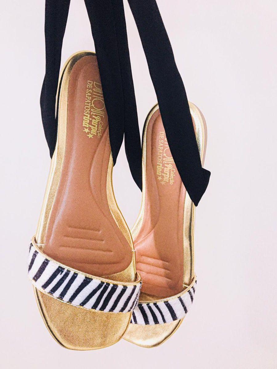 Sandália Rasteira Zebra Amarração