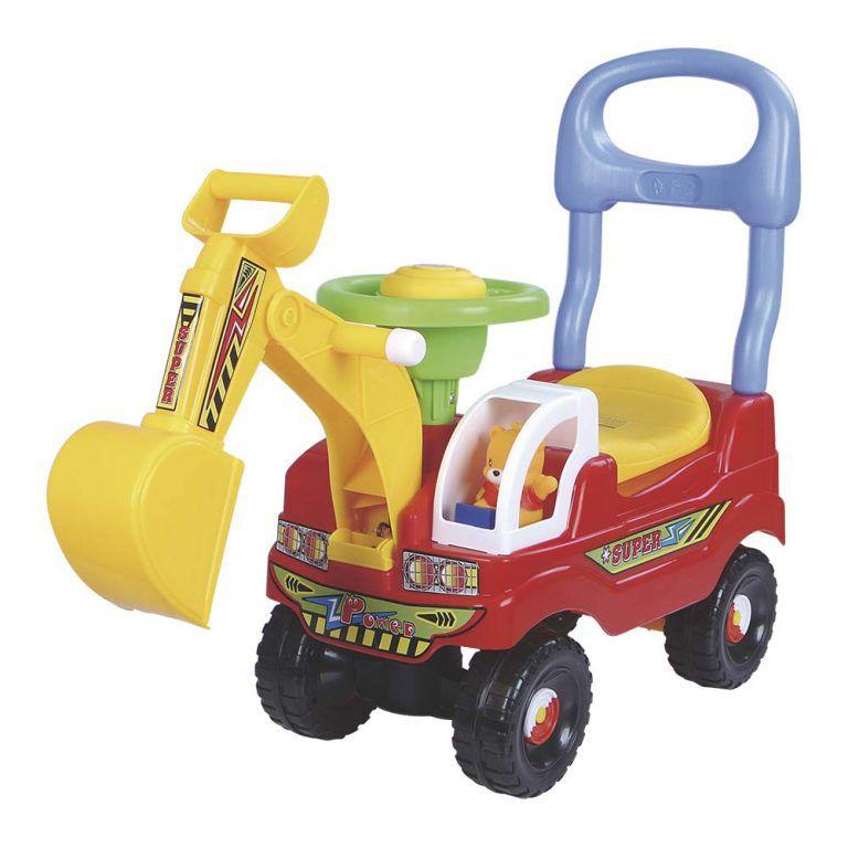 Andador Escavadeira Brinquedo Infantil Bebê Buzina Até 25Kg