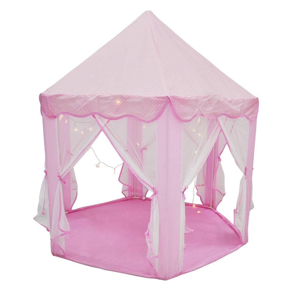 Barraca Tenda Cabana Com Luzes Iluminada Infantil Feminina