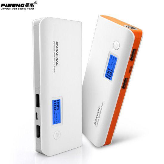 Bateria Externa Carregador Portátil Pineng 968 10000mAh Real