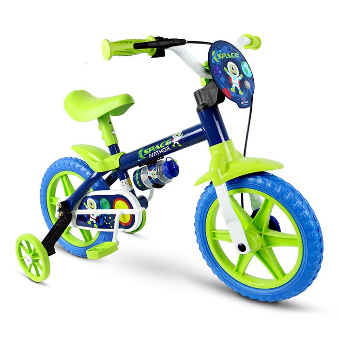 Bicicleta Bicicletinha Infantil Menino Aro 12 Nathor Space