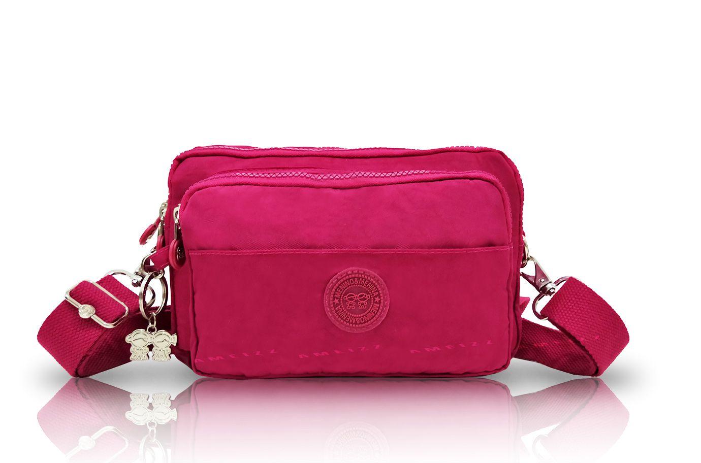 Bolsa Transversal Feminina Pochete 2 Em 1 Menino&menina Pink