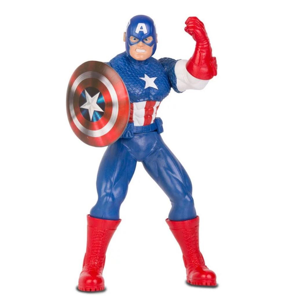Boneco Capitão América Comics 50cm Vingadores Marvel Mimo