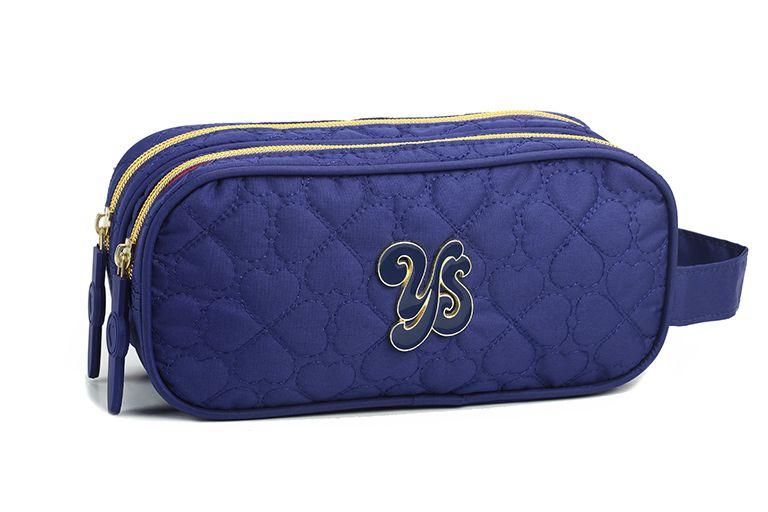 Estojo Juvenil Escolar Feminina 13871 Azul Royal Moda