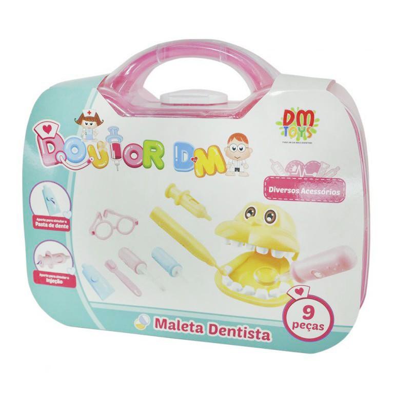 Kit Maleta Dentista Doutor Infantil Brinquedo Com Acessórios
