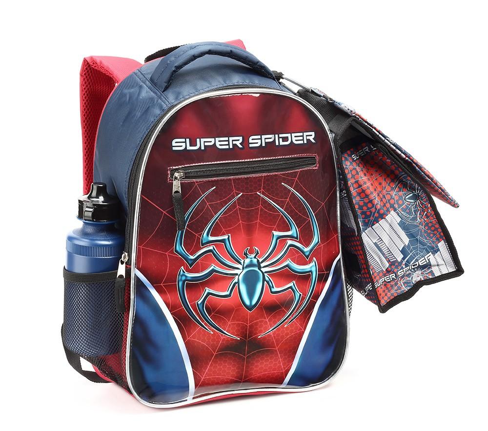 Kit Mochila Escolar Com Lancheira Estojo 15342 Super Spider