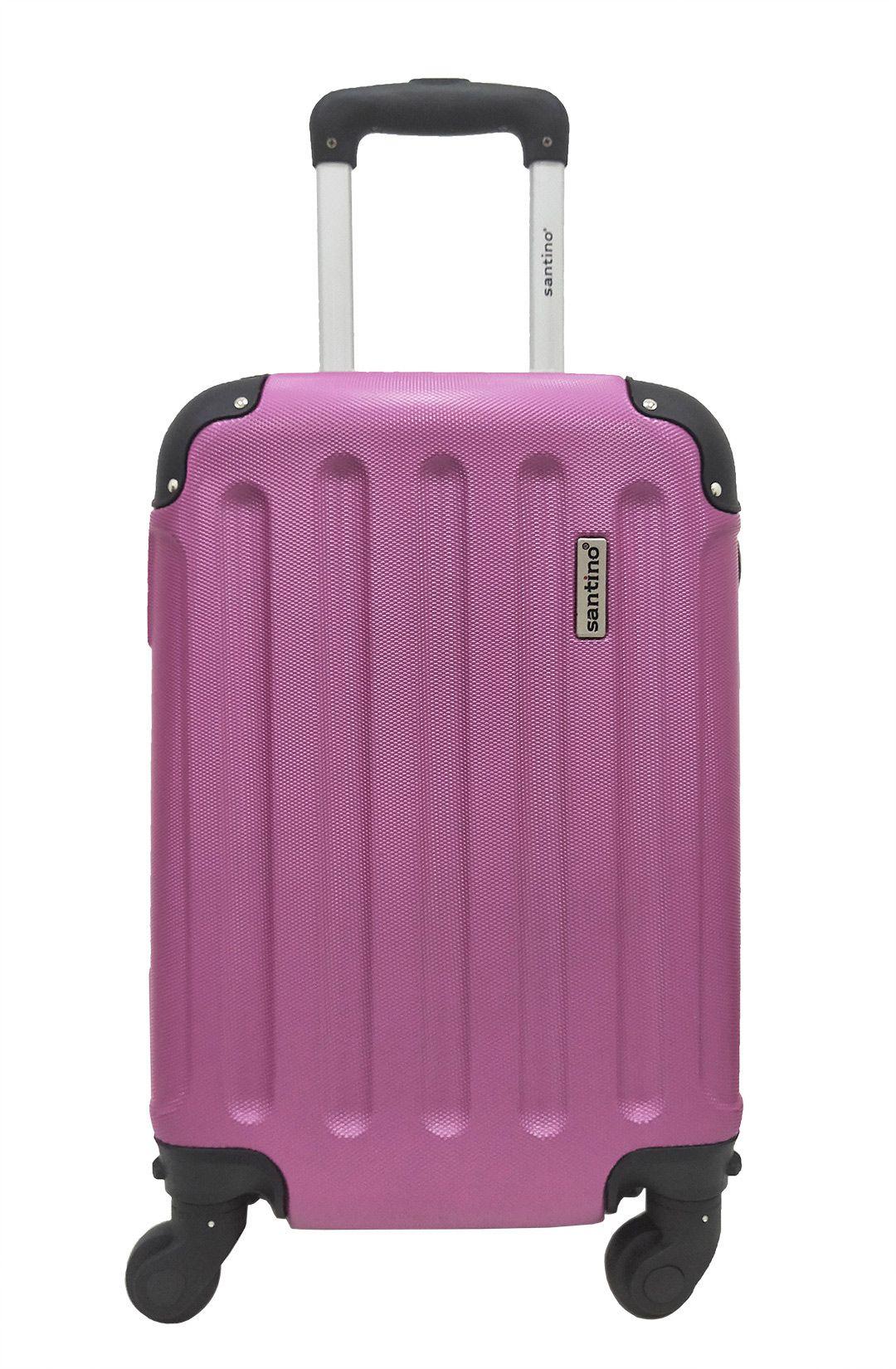 Mala De Viagem P 4 Rodinhas Giratórias Pink Bagagem Bordo