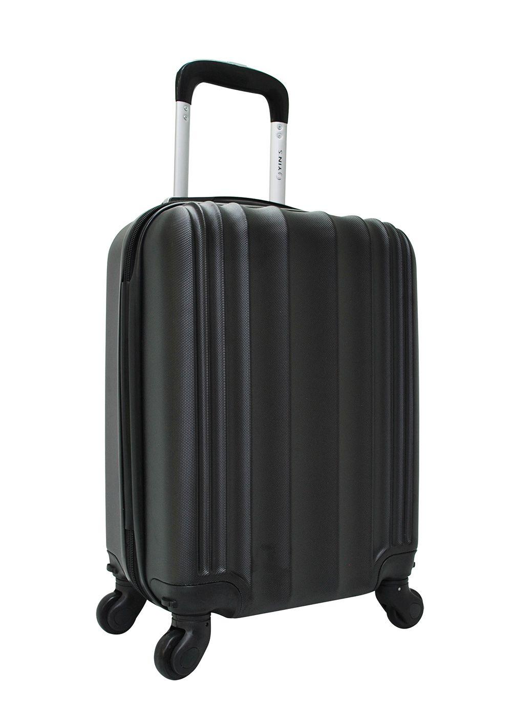 Mala De Viagem Pequena ABS Bordo C/ Cadeado Yins 21023 Preta
