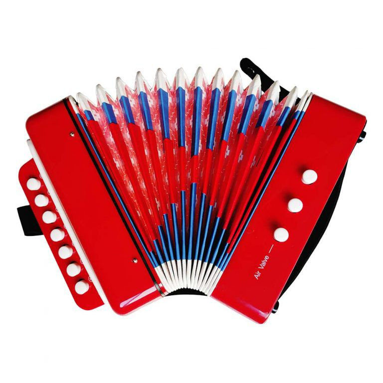 Mini Acordeon Sanfona Infantil Brinquedo Musical 3 Baixos