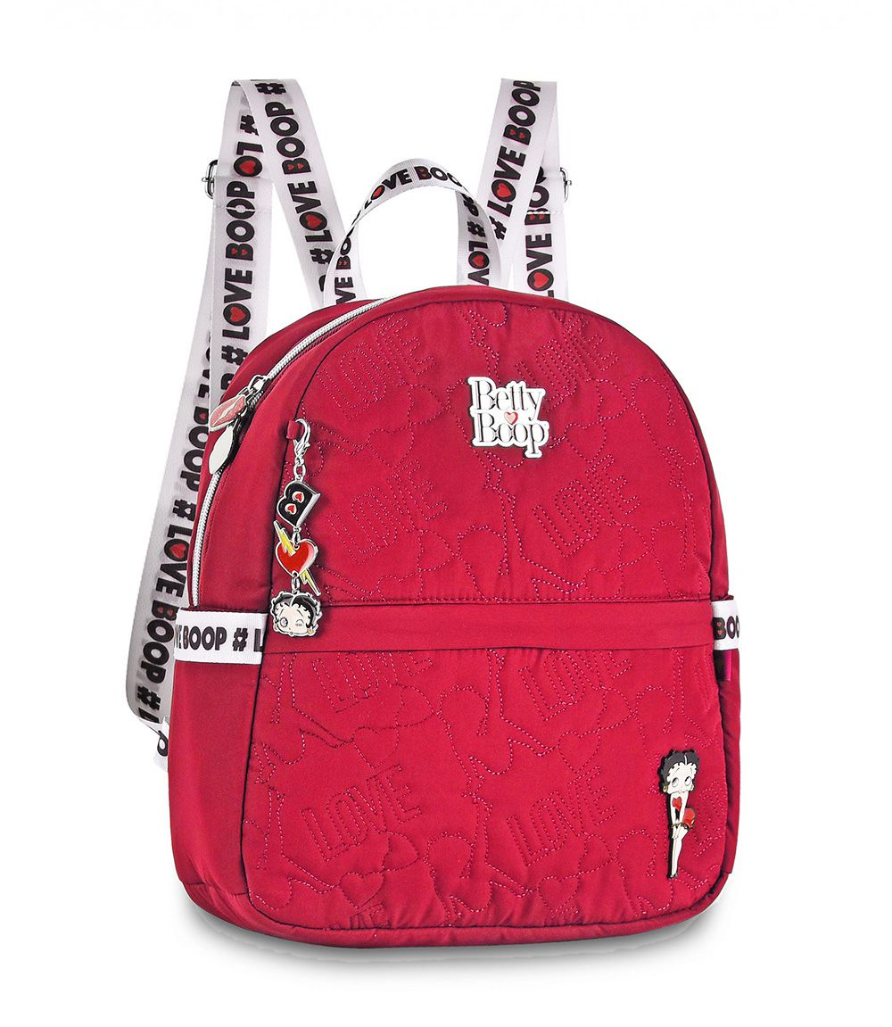 Mini Mochila Betty Boop Feminina BP2307 Moda Urbano Vermelha