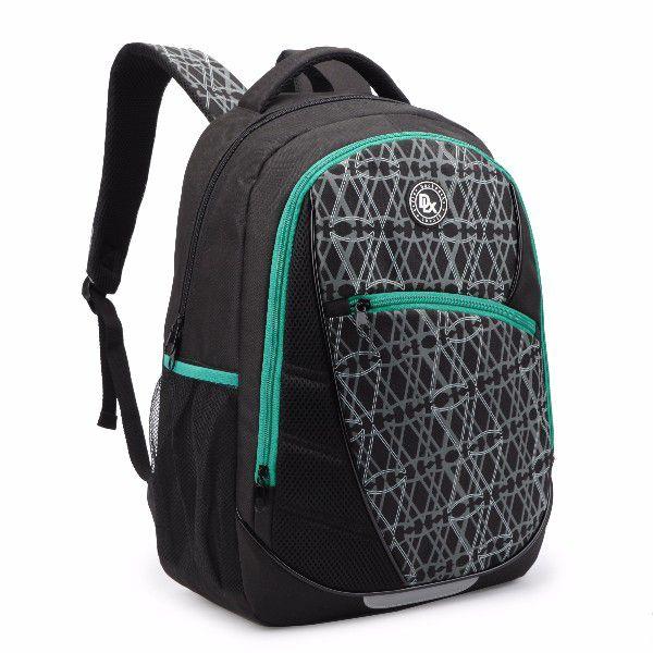 Mochila Backpack Denlex DL0231 Preto Com Verde Resistente