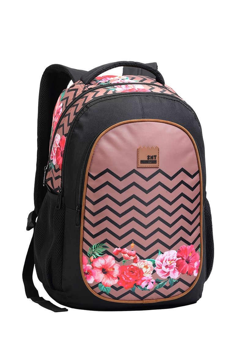 Mochila Backpack Feminina Juvenil Florida Rosê Seanite 14062