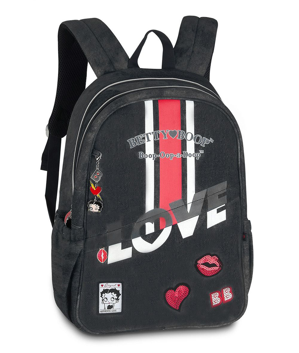 Mochila Betty Boop Jeans 2202 Moderna Escolar Notebook Preto