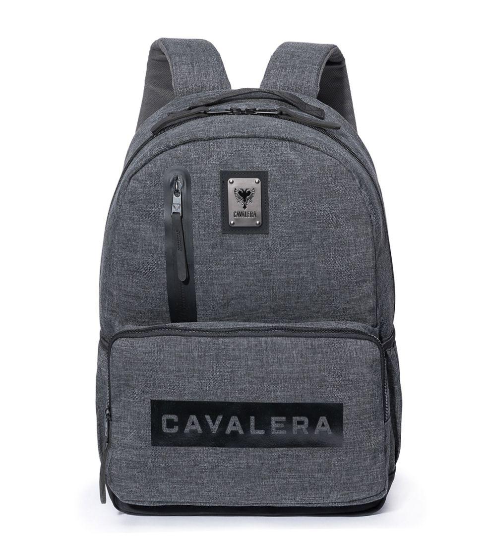 Mochila Cavalera Mark laptop Escolar Urbano CVC7155 Chumbo