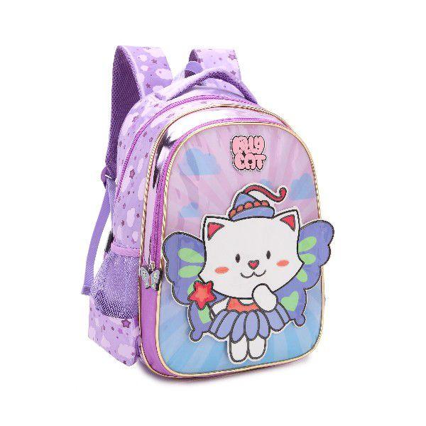 Mochila Escolar Infantil Feminina Denlex DL0347 Lilly Cat