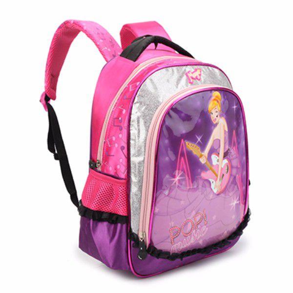 Mochila Escolar Infantil Feminina DL0153 Rosa Pequena