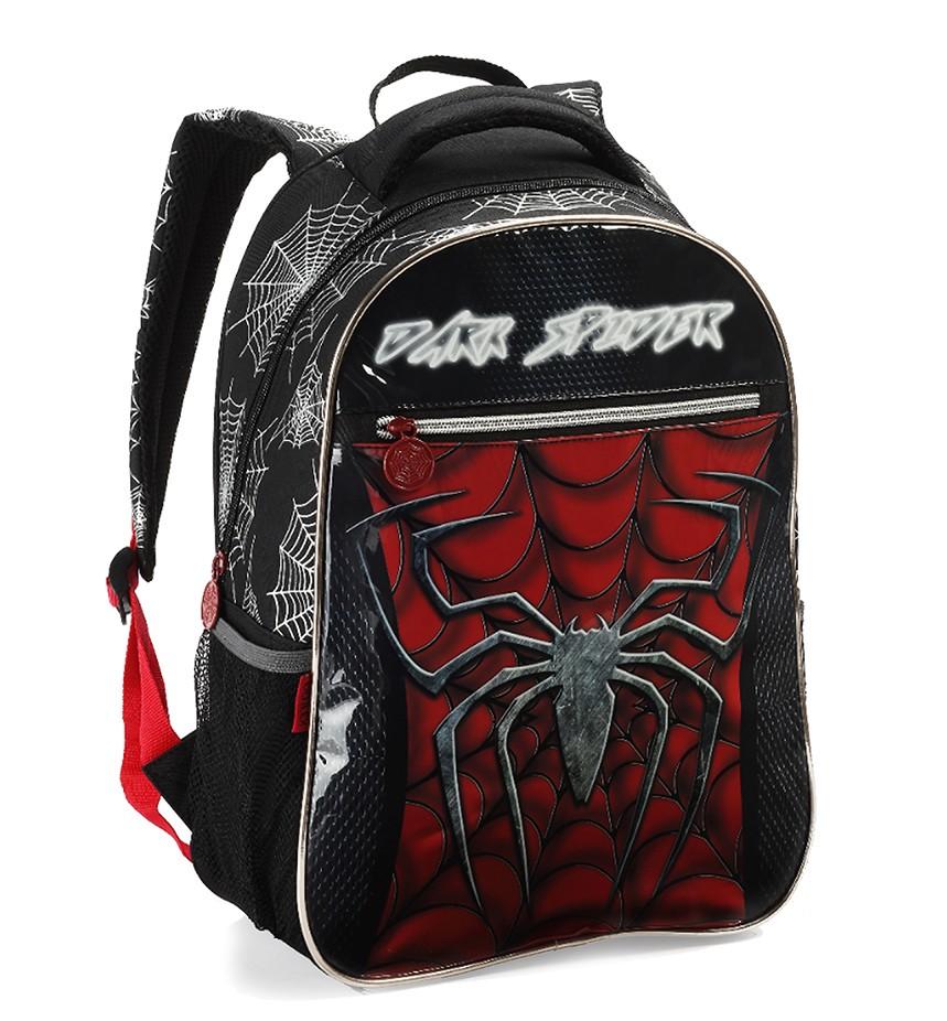 Mochila Escolar Infantil Masculino Costas Dark Spider DL1012
