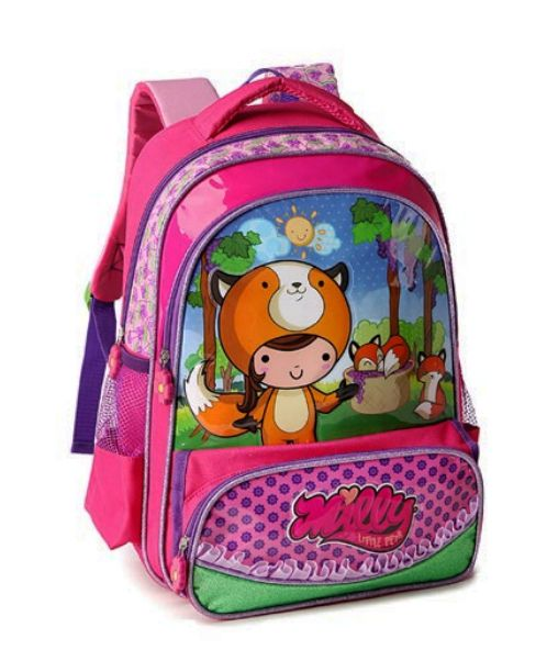 Mochila Escolar Infantil Menina Denlex 8861 Milly Little Pet