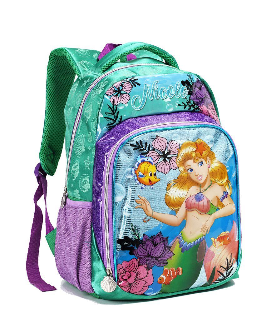 Mochila Escolar Infantil Menina Nicole Sereia MI13904 Verde