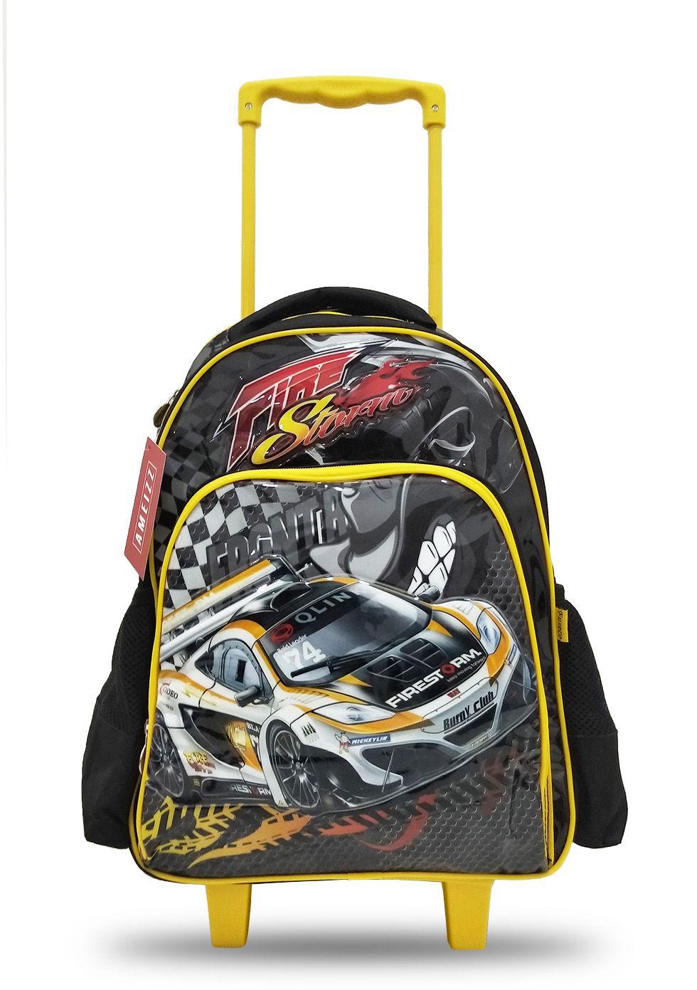 Mochila Escolar Infantil Menino Carro De Corrida 4138 Grande