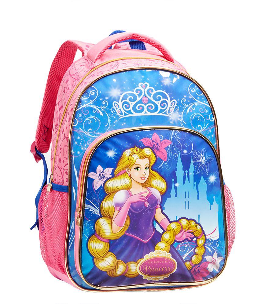 Mochila Escolar Infantil Princesas Feminina 13950 De Costas