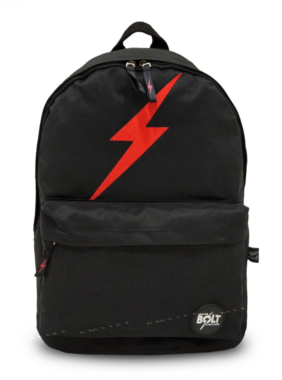 Mochila Escolar Lightning Bolt LBM184301 Preto Com Raio