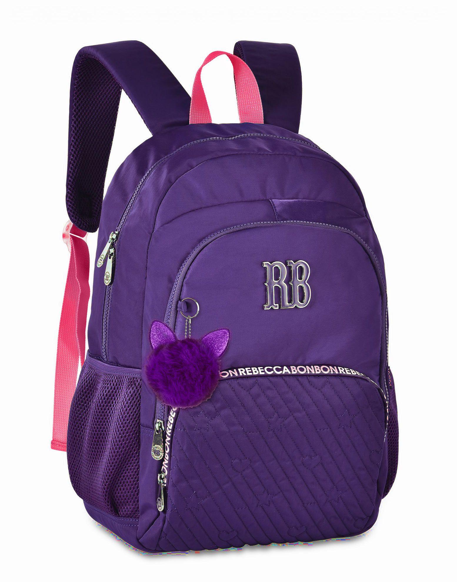 Mochila Escolar Universitária Rebecca Bonbon RB2060 Azul