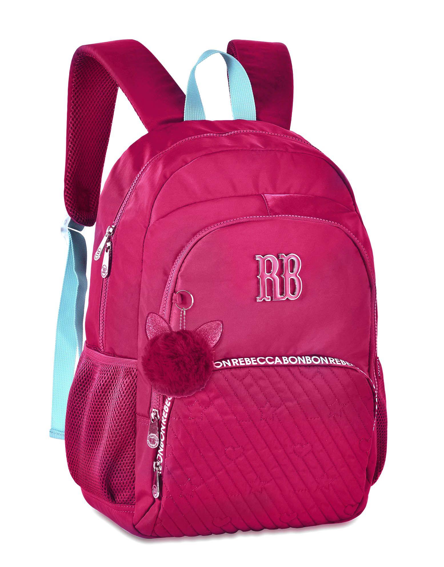Mochila Escolar Universitária Rebecca Bonbon RB2060 Rosa