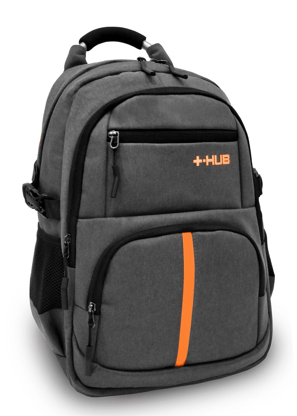 Mochila Executiva Notebook Hub M137 Premium 30L Cinza