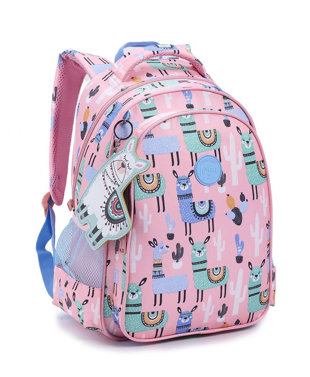 Mochila Feminina Backpack Com Chaveiro Seanite lhama