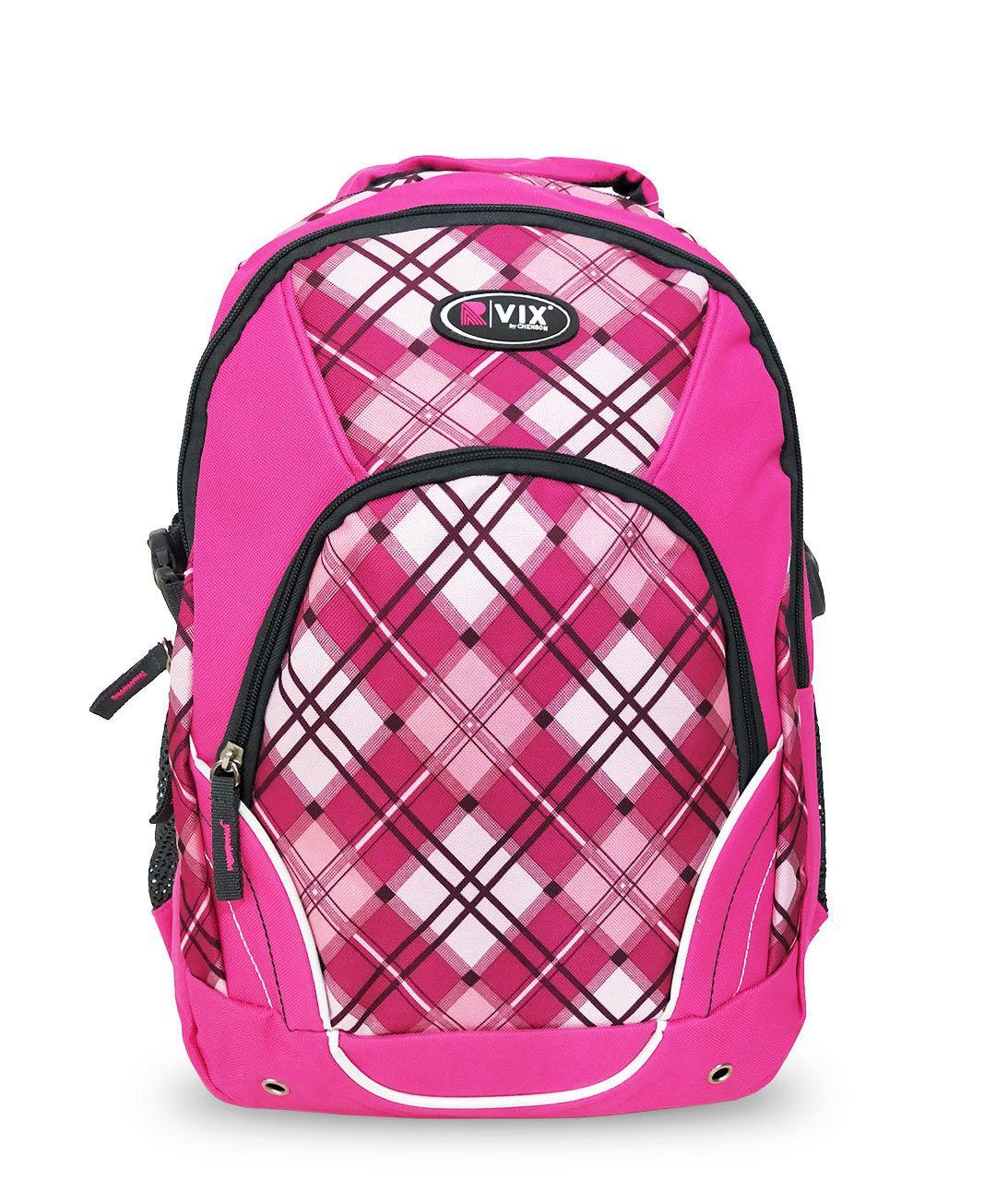 Mochila Feminino Escolar Notebook Resistente Vix 35610 Rosa