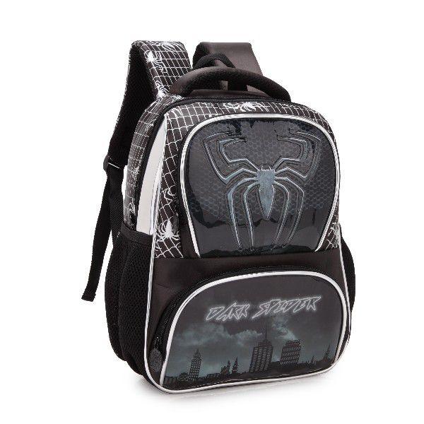 Mochila Infantil Costas Menino Denlex Dark Spider DL0353