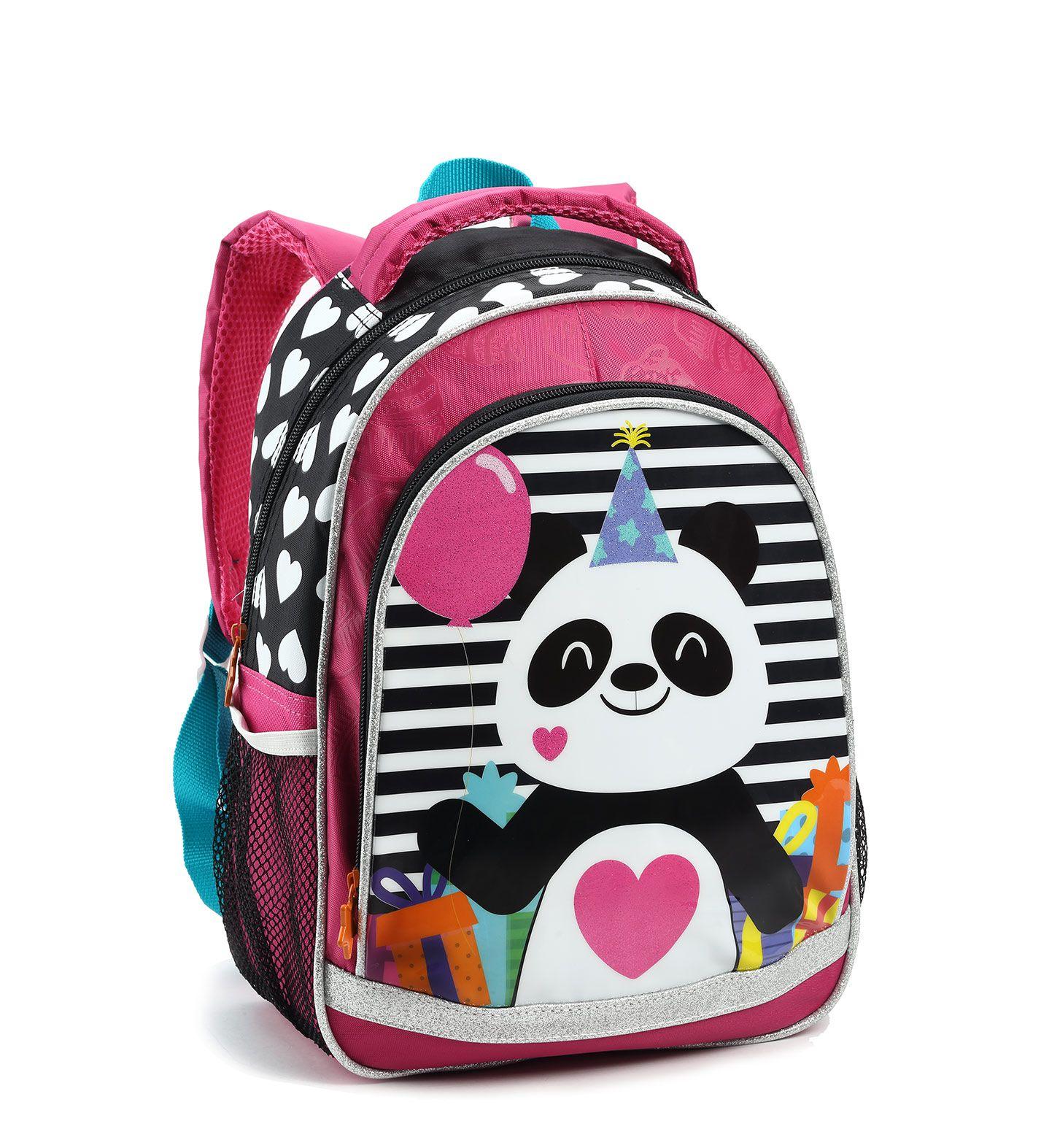 Mochila Infantil Costas Panda Fofa Feminina 14489 Pequena