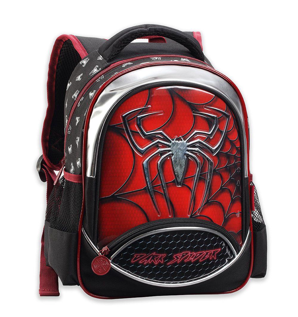 Mochila Infantil Dark Spider Grande Masculino 0629 Vermelho