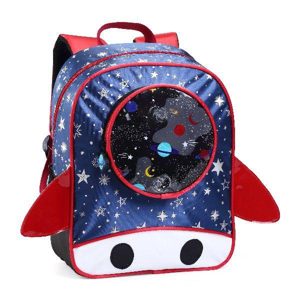 Mochila Infantil Foguete Denlex Pequeno Pré Escolar
