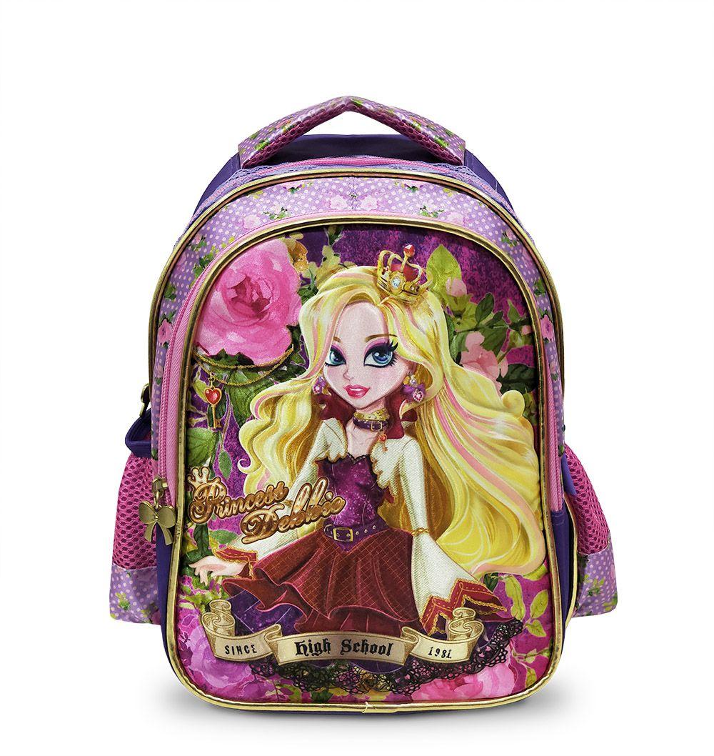 Mochila Infantil Menina Pequena 4044 Creche Pré Escolar Roxo