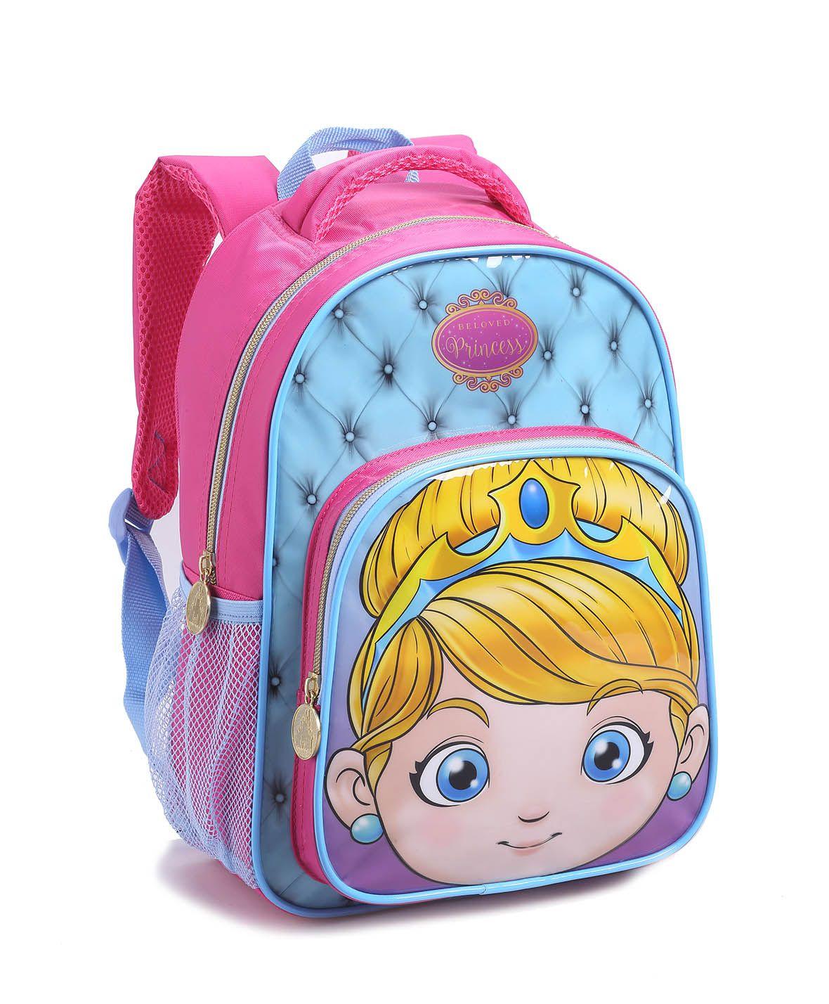 Mochila Infantil Menina Seanite 14483 Princesinha Fofa Rosa