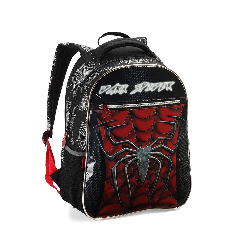 Mochila Infantil Menino Dark Spider Denlex DL1011 Pequeno