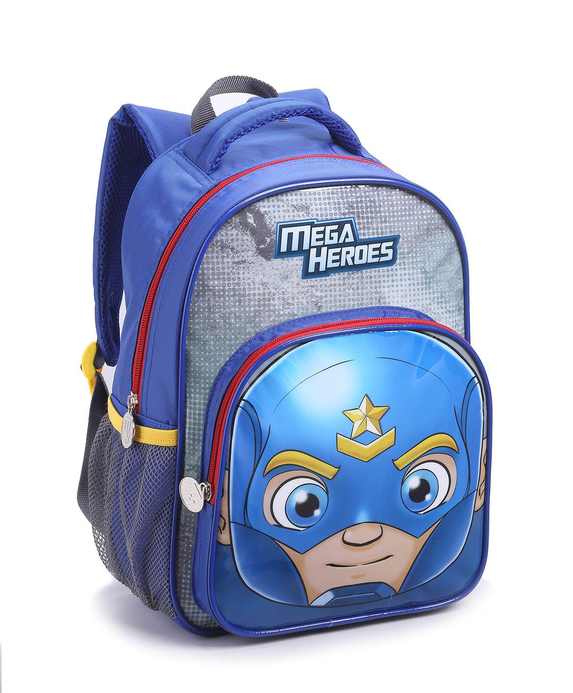 Mochila Infantil Menino Seanite 14486 Mega Heroes Azul