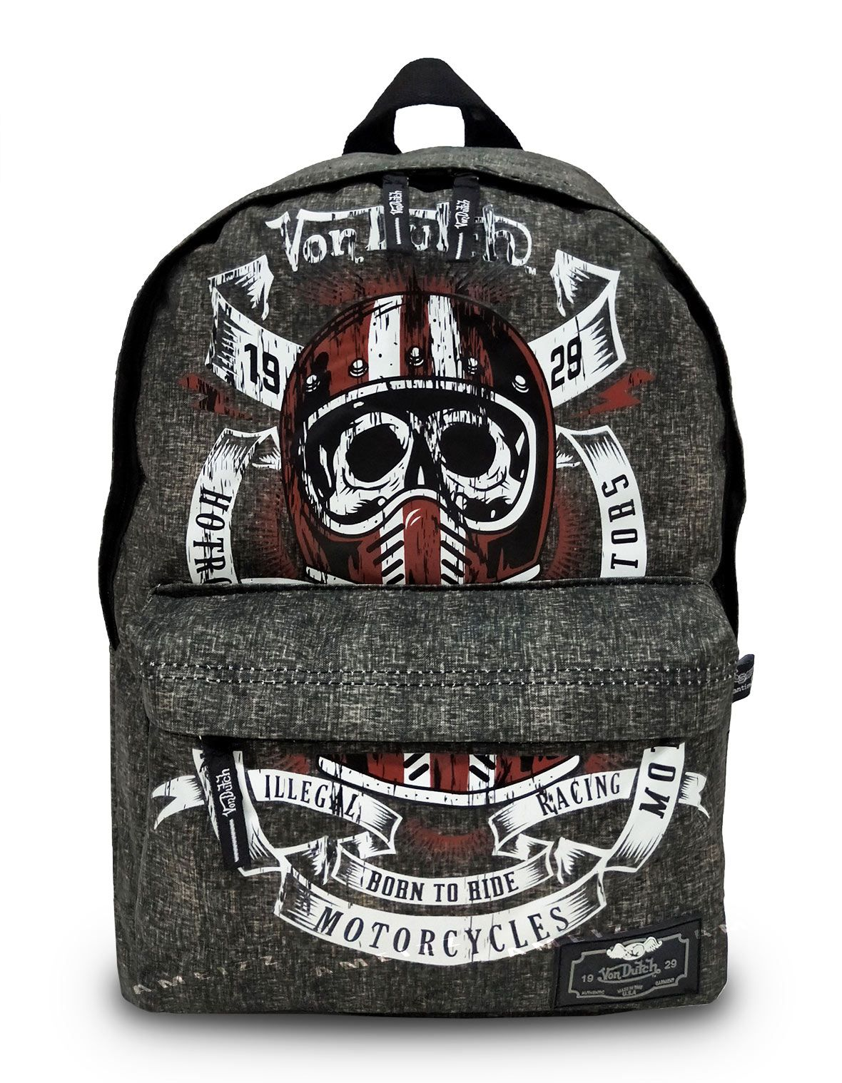 Mochila Juvenil Von Dutch Backpack Escolar Resistente
